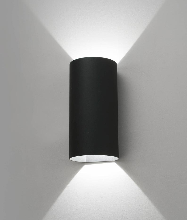 Luminaria exterior aplique gris oscuro bruc led - Lamparas de aplique para pared ...