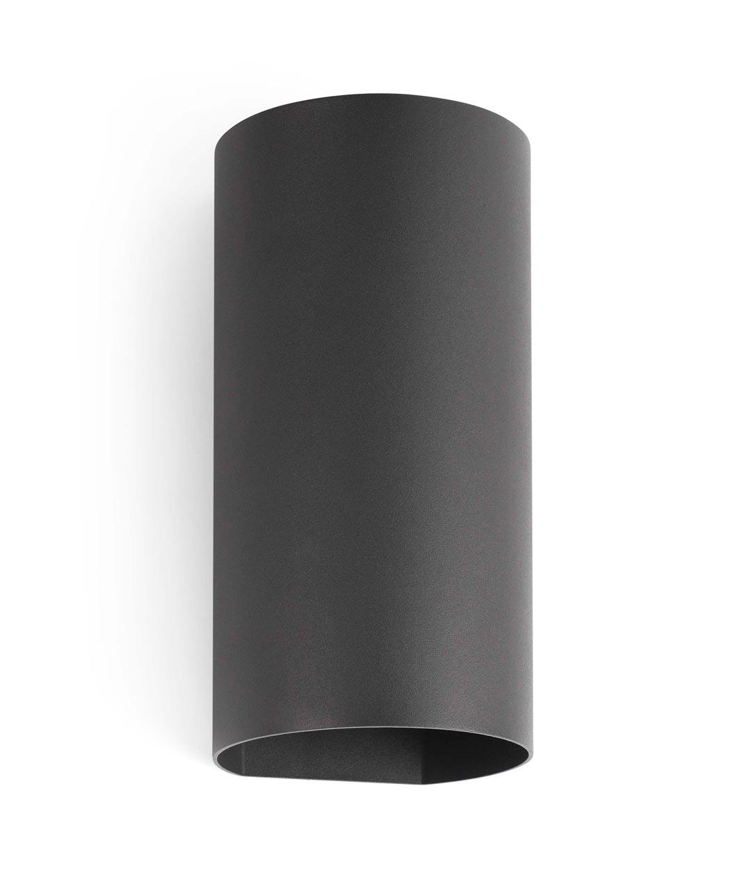 Luminaria exterior aplique gris oscuro bruc led for Aplique exterior led