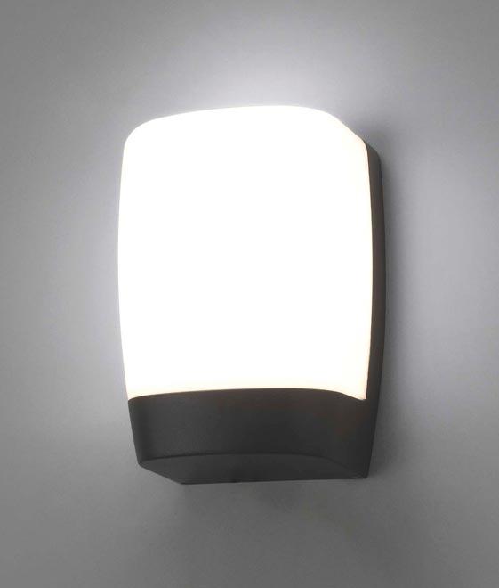 Luminaria gris oscura exterior POL LED detalle
