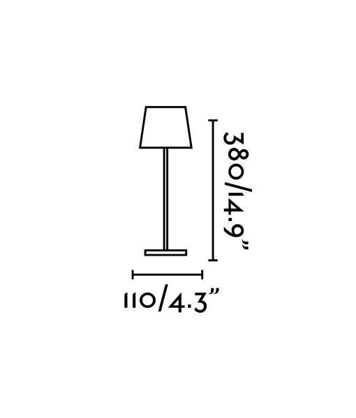 Medidas luminaria portátil amarilla TOC LED