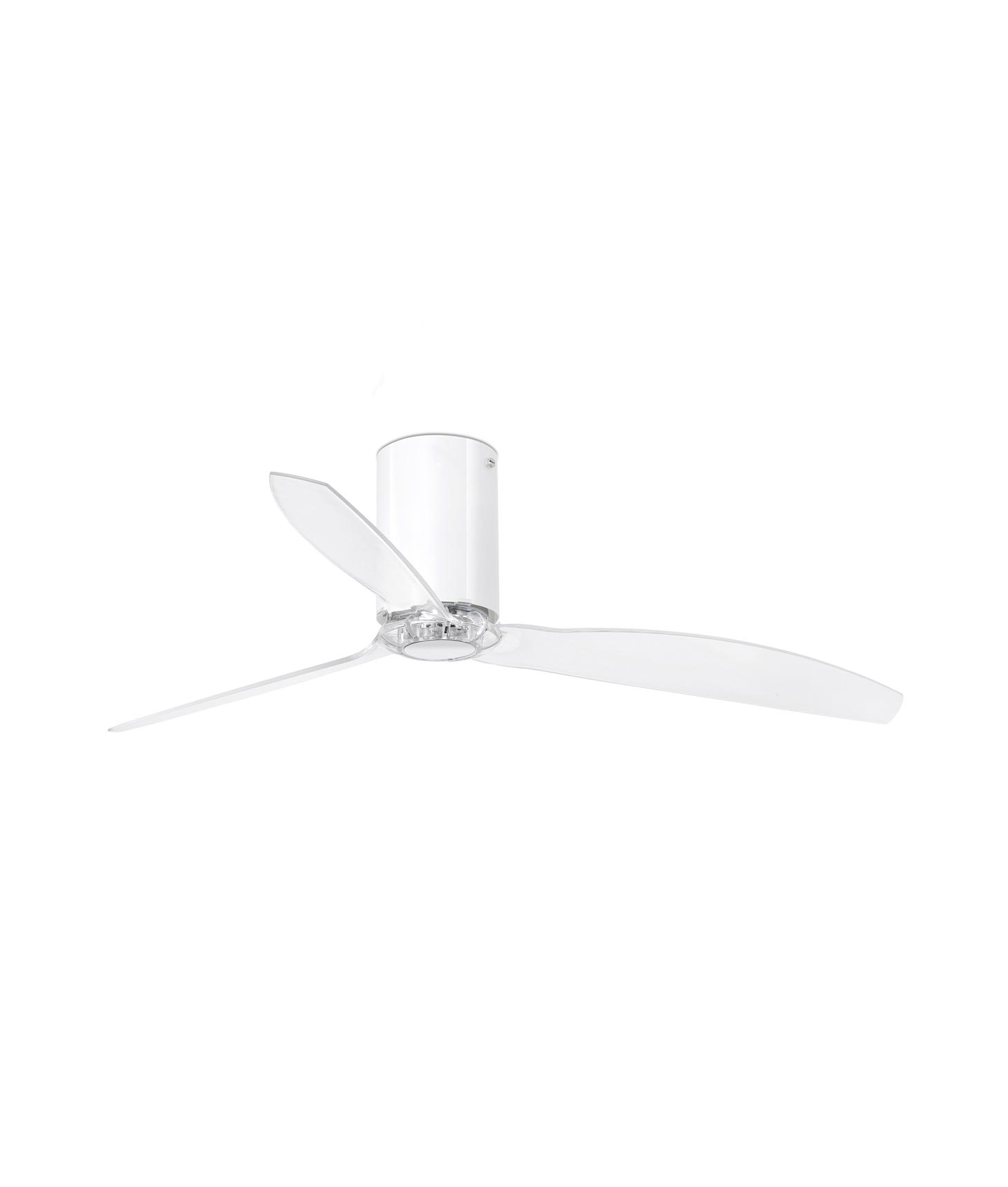 Ventilador blanco brillo y transparente MINI TUBE FAN