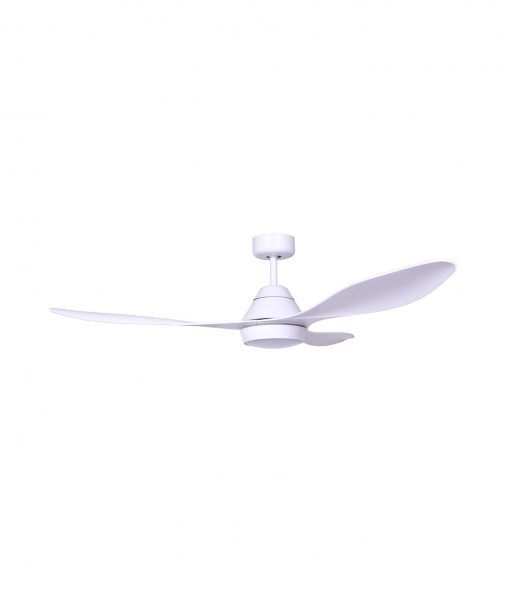 Ventilador blanco motor DC POLARIS LED