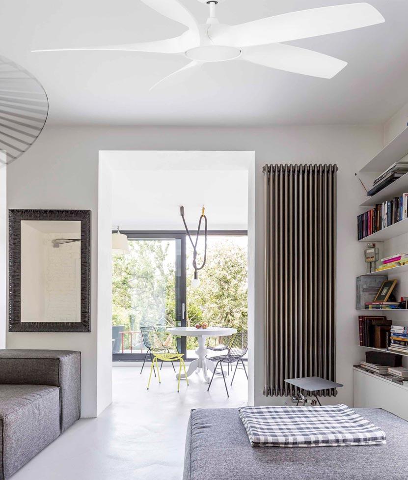 Ventilador DC bajo consumo y luz COCOS LED ambiente