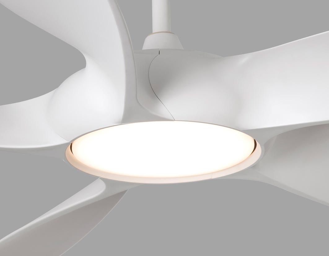 Ventilador DC bajo consumo y luz COCOS LED detalle