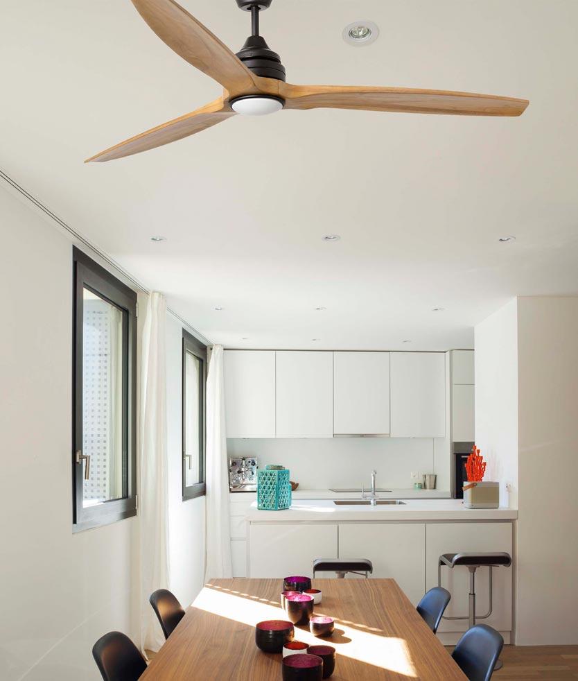 Ventilador de techo de madera ALO LED ambiente