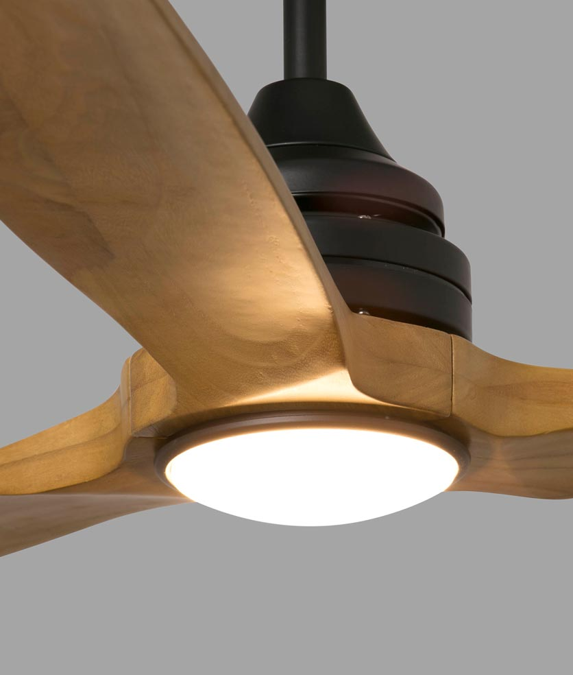 Ventilador de techo de madera ALO LED detalle