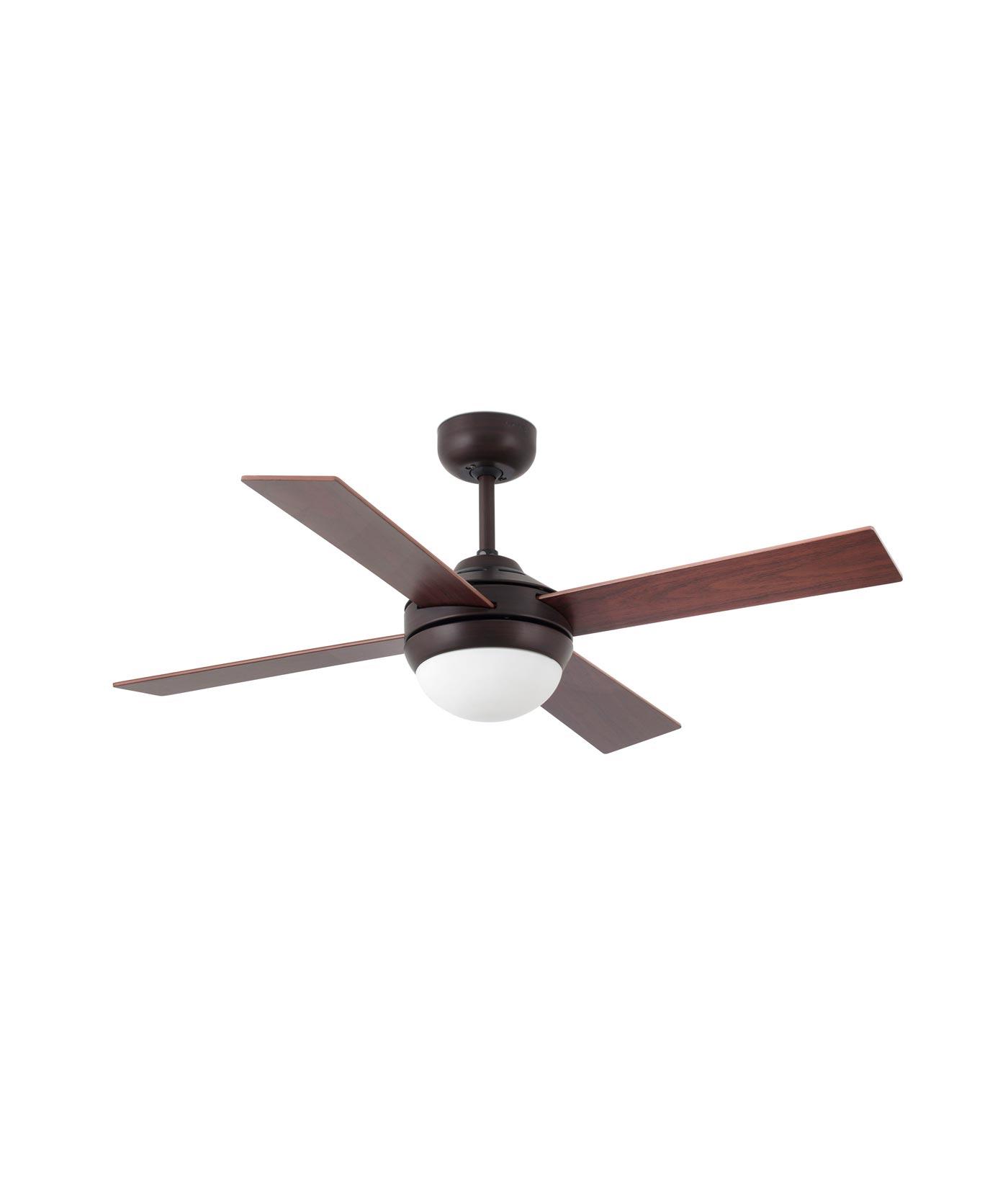 Ventilador moderno marrón óxido MINI ICARIA