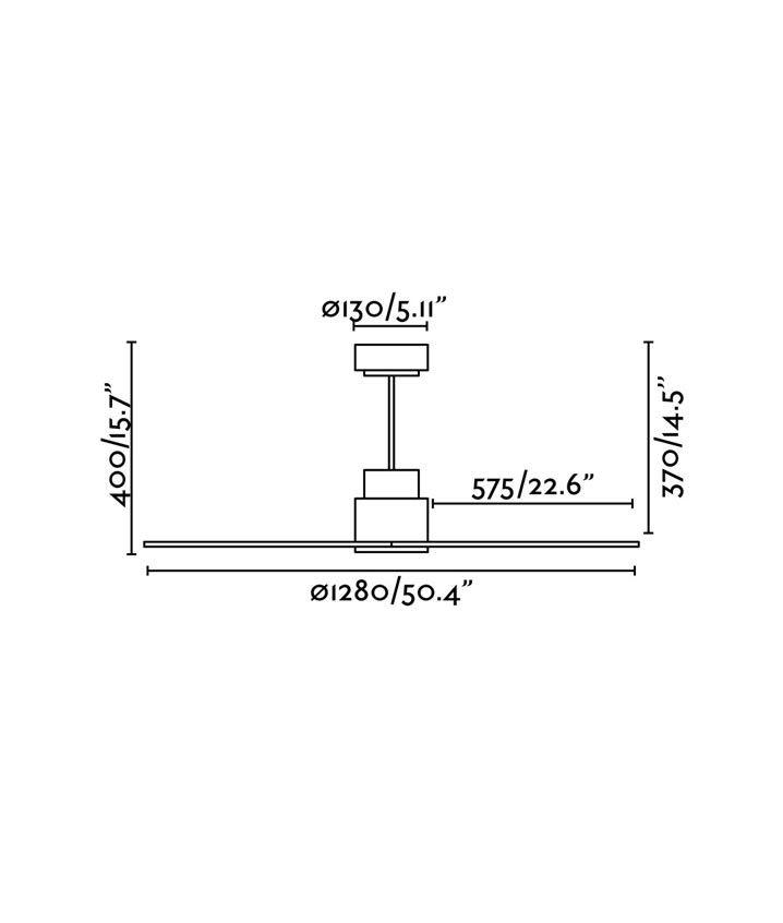 Medidas ventilador motor DC bajo consumo blanco NASSAU