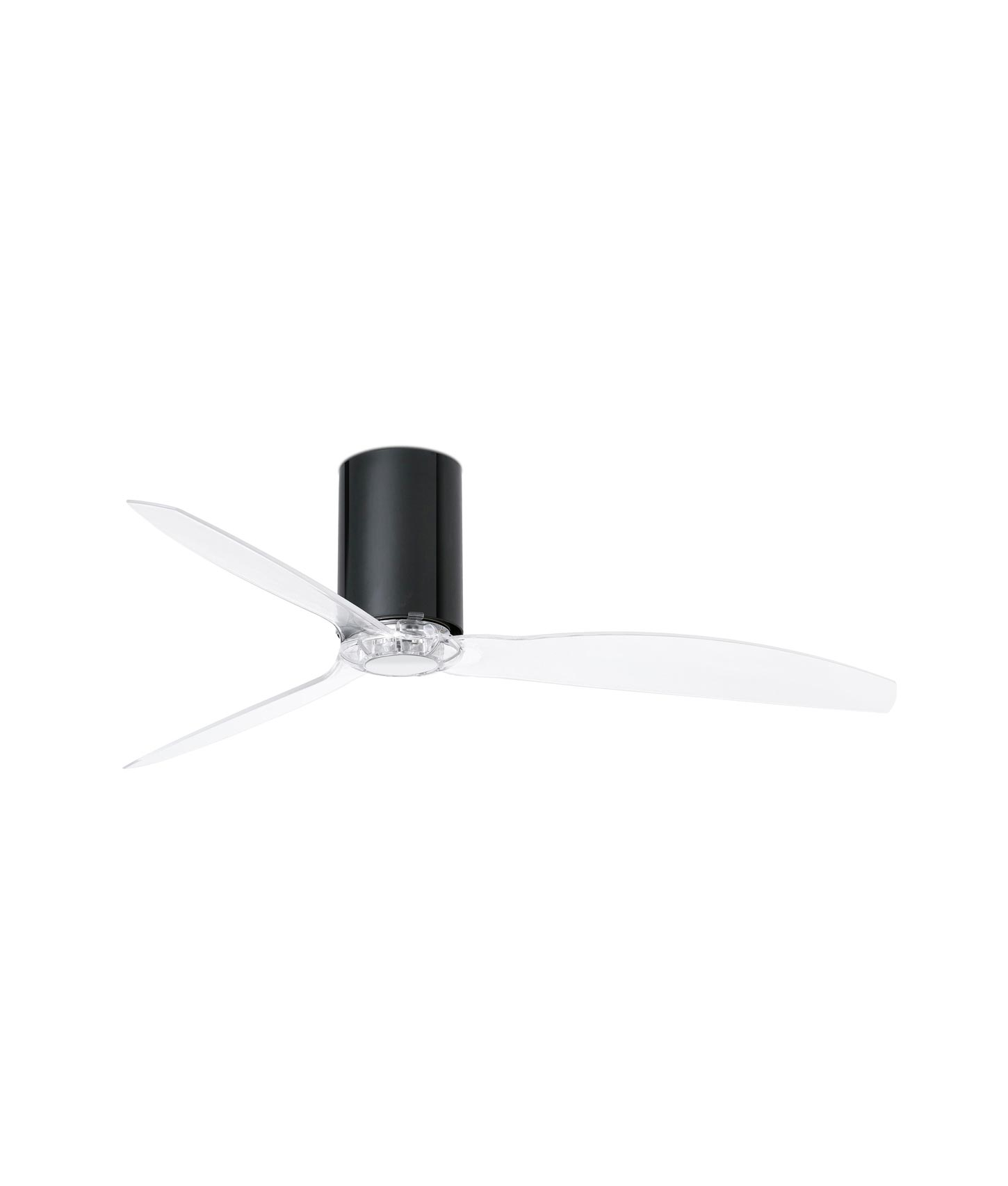 Ventilador negro brillo y transparente MINI TUBE FAN