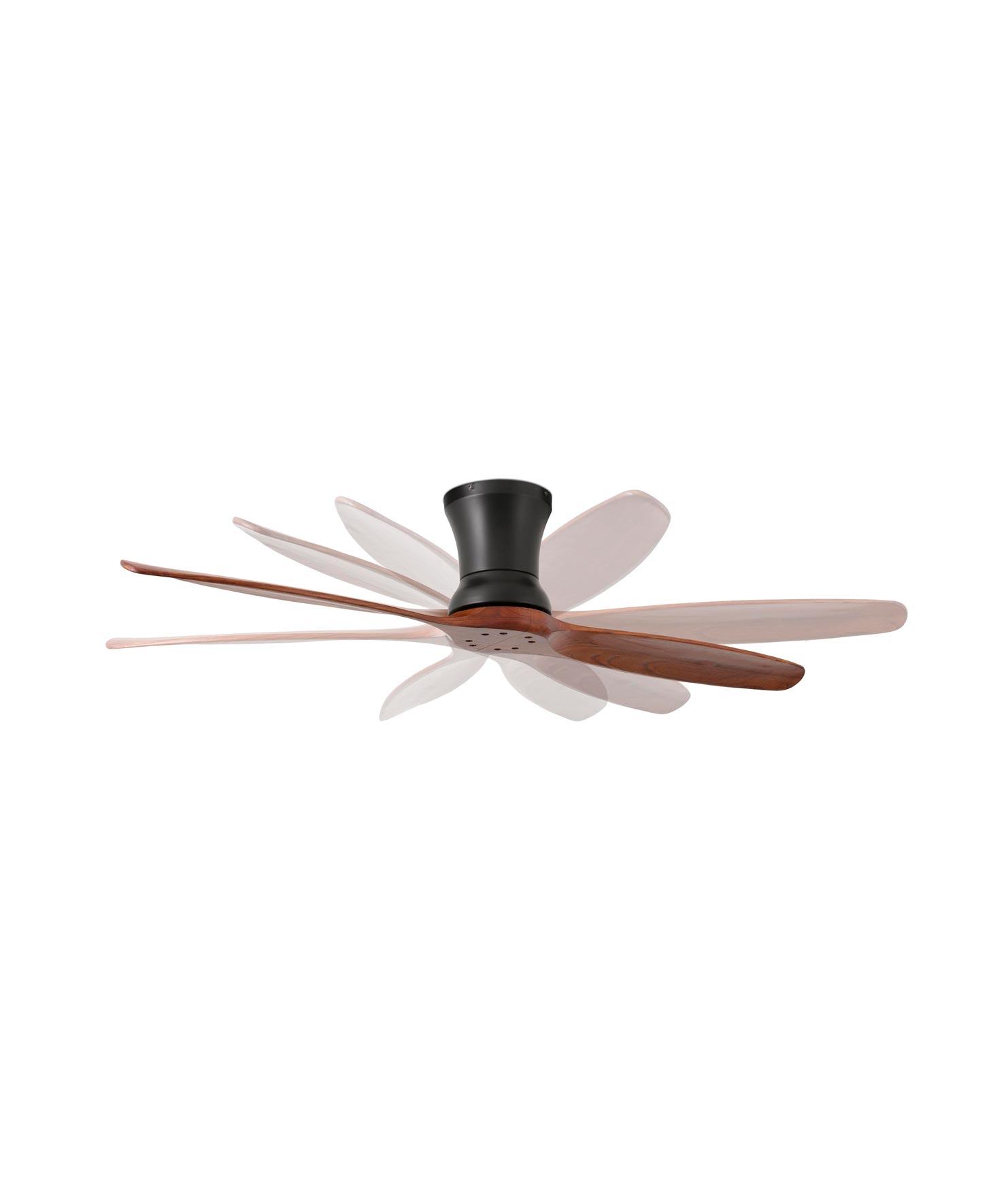 Ventilador negro moderno LAMA detalle