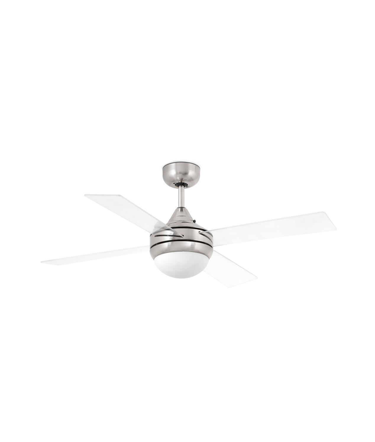 Ventilador níquel y transparente MINI ICARIA