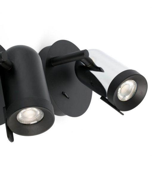 Aplique cromo minimalista 1 luz ORLEANS detalles