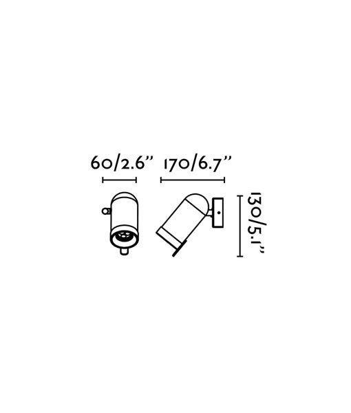 Medidas aplique cromo minimalista 1 luz ORLEANS