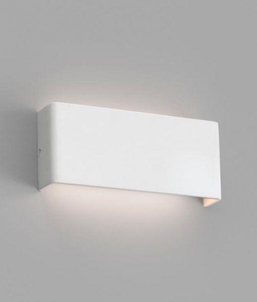Aplique interior minimalista blanco 8W NASH LED detalle haz de luz