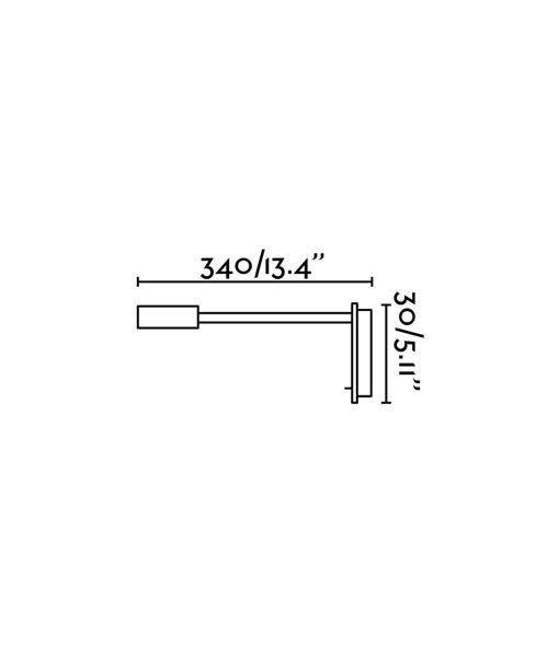 Medidas aplique lector con USB cromo JULIET LED