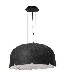 Lámpara 70% reciclada gris oscura y claro MUTE LED