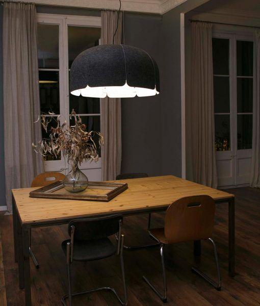 Lámpara 70% reciclada gris oscura y claro MUTE LED ambiente 2