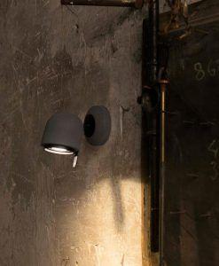 Lámpara aplique gris piedra STONE-1 ambiente