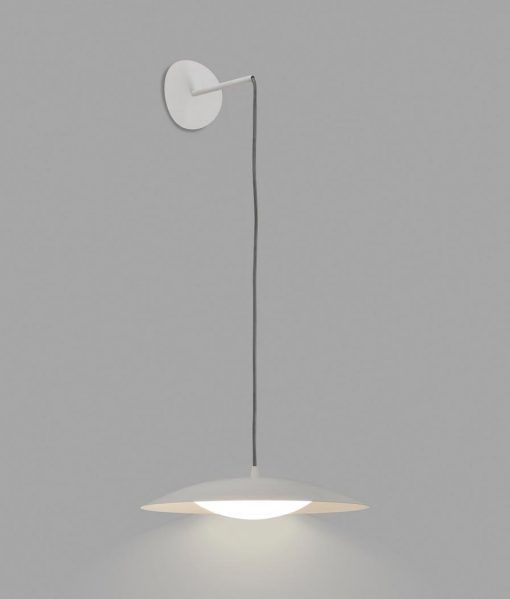 Lámpara colgante blanca SLIM LED detalle