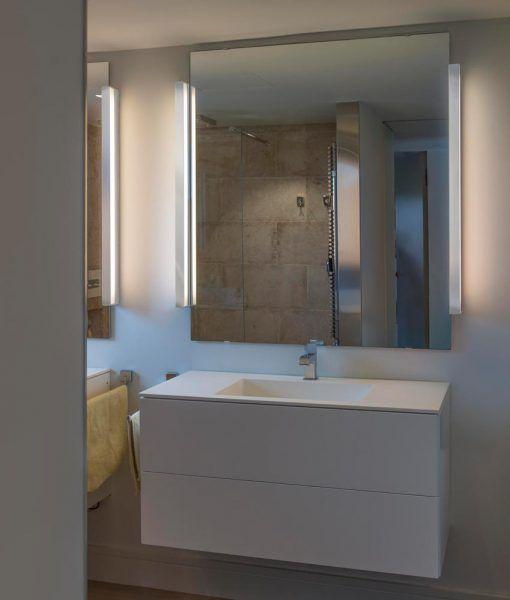 Lámpara de baño cromo y blanco NILO-2 LED ambiente