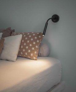 Lámpara de lectura articulada negra KALE LED ambiente