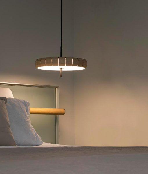 Lámpara de madera original PHILL LED ambiente