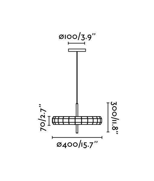 Medidas lámpara de madera original PHILL LED