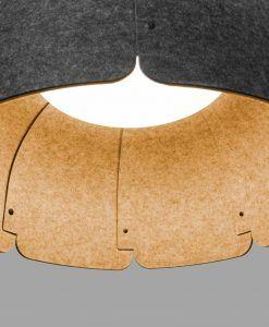 Lámpara de material reciclado MUTE LED detalle