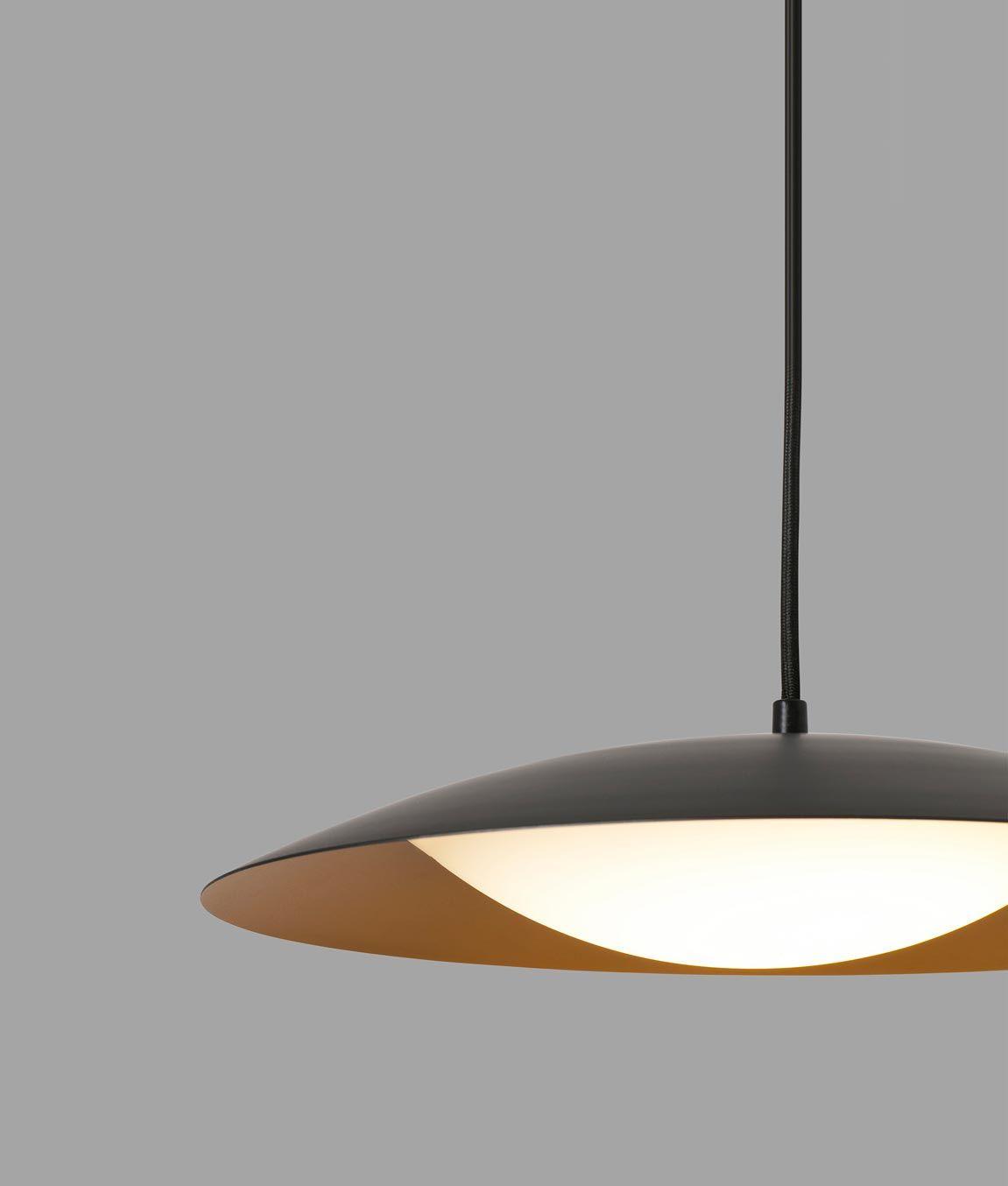 Lámpara de techo negra oro SLIM LED ⋆ La Casa de la Lámpara