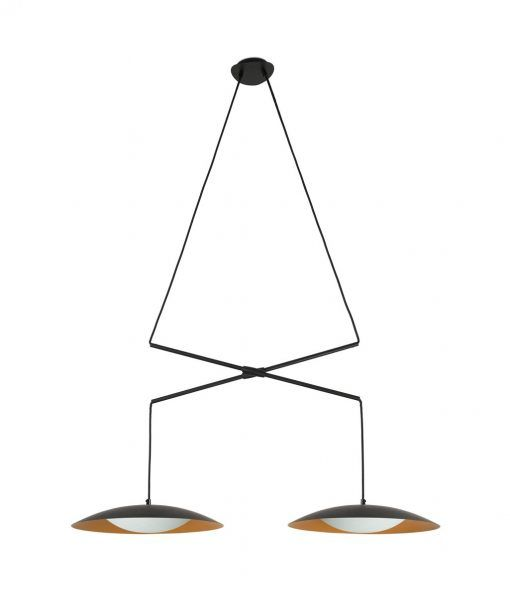 Lámpara doble extensible negra oro SLIM LED
