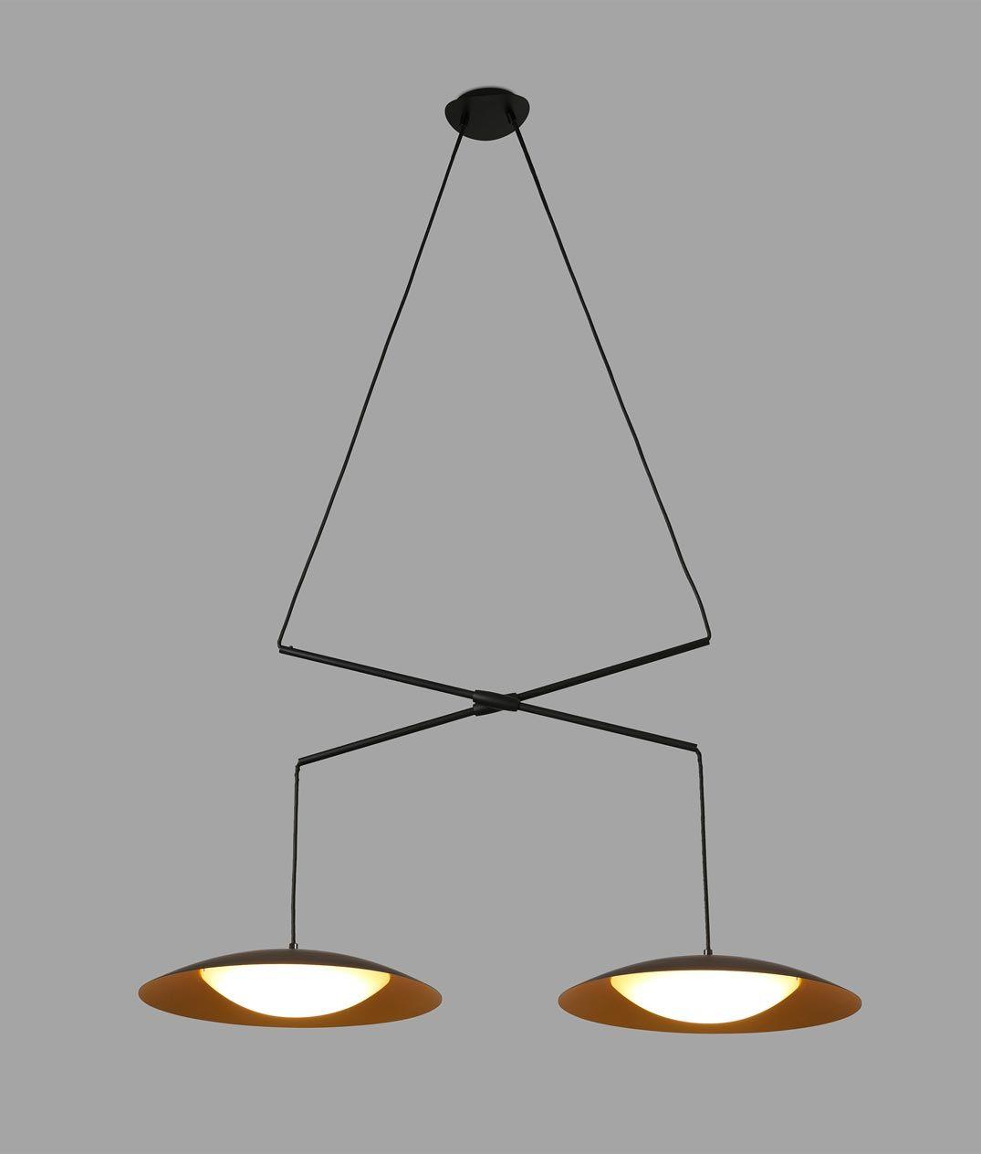 L mpara doble extensible negra oro slim led - Casa de las lamparas ...