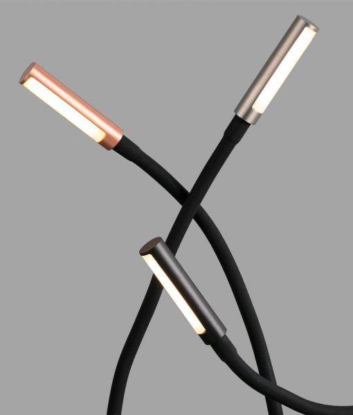 Detalle lámpara escritorio articulada SERP LED