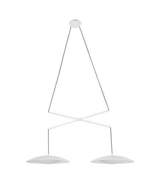 Lámpara extensible doble tulipa blanca SLIM LED
