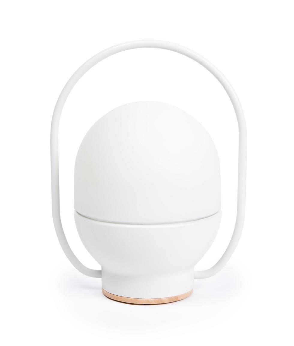 Lámpara juvenil portátil blanca TAKE AWAY LED
