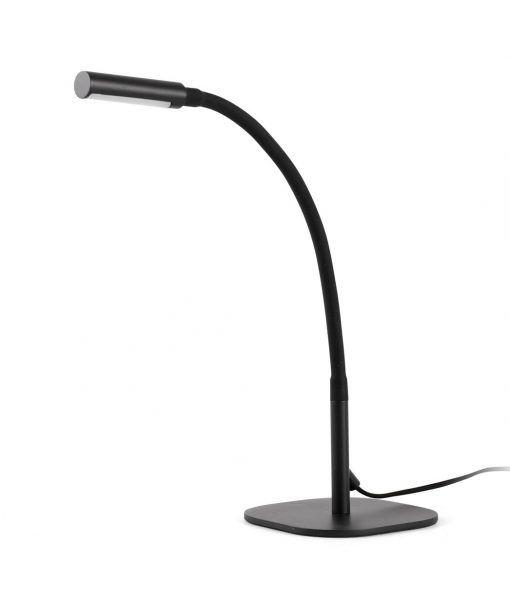 Lámpara lectura articulada negra SERP LED