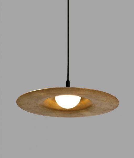 Luminaria de latón COSMOS LED detalle