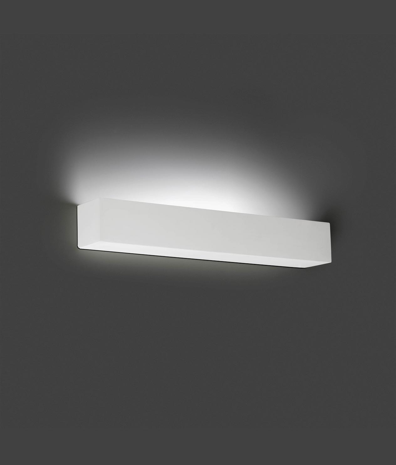 Luminaria de yeso blanco tera led la casa de la l mpara for La casa del led