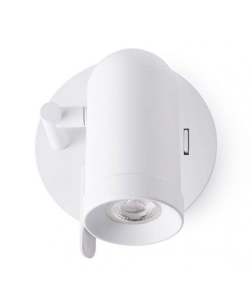 Minimalista aplique blanco 1 luz ORLEANS