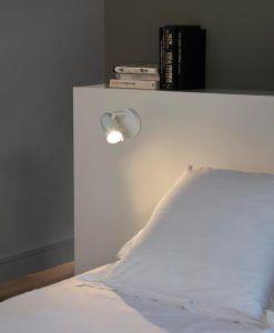 Minimalista aplique blanco 1 luz ORLEANS ambiente