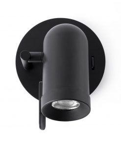 Minimalista aplique negro 1 luz ORLEANS