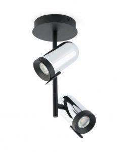 Plafón foco cromo 2 luces ORLEANS
