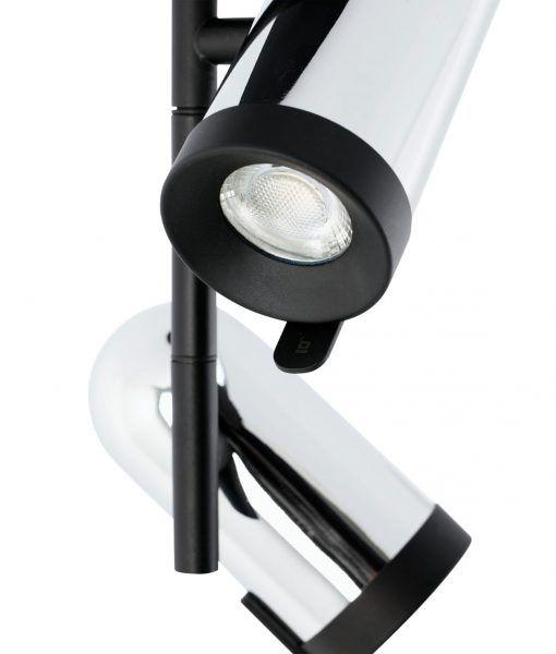 Plafón foco cromo 2 luces ORLEANS detalle