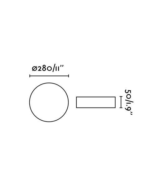 Medidas plafón regulable IP54 baño ZON LED
