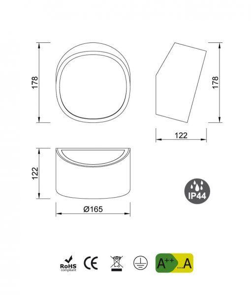 Medidas aplique circular MINI