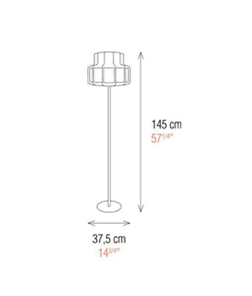 Medidas lámpara de salón 145 cm de alto BANDA