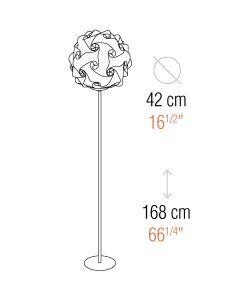 Medidas lámpara de pie 168 cm de altura COL