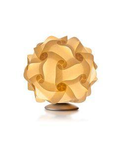 Lámpara Luján + Sicilia de mesa 27 cm contrucción modular COL - Acabado pergamino crema