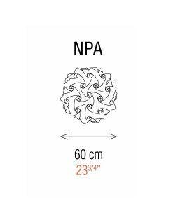 Medidas lámparas aplique de pared 60 cm diámetro NUBE