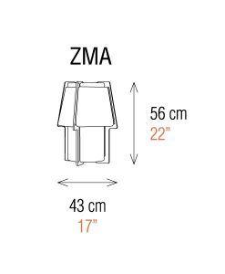 Medidas aplique de pared 56 cm de alto ZONA