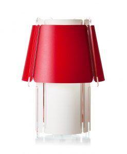 Lámpara de mesa 56 cm de alto ZONA roja